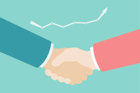 diverse business team: businessmans hand shaking Illustration