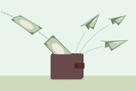 flying money: money and wallet