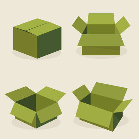 ship parcel: open box
