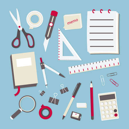 staplers: stationary display, vector