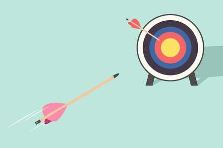 arrow and target Stock Vector - 18936274