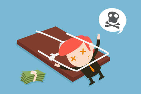 TRAP: businessman and trap