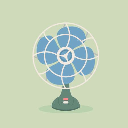 oscillation: Vintage fan Illustration