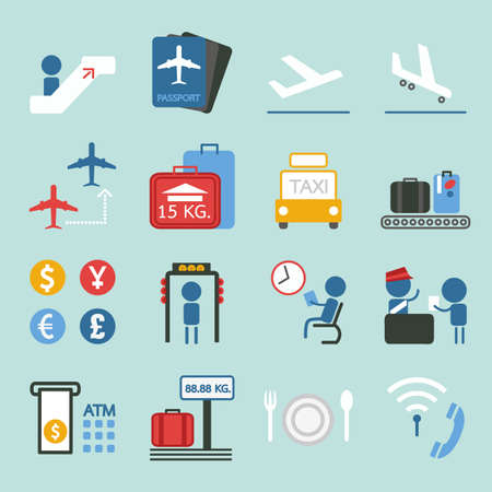 set going: airport icon design, vector Illustration