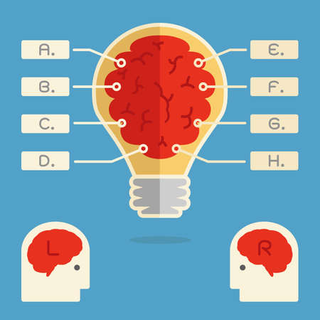 brain infographics minimal design  vector Vector