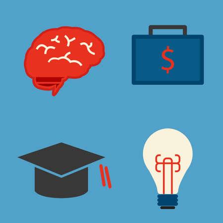 education icon minimal design, vector Vector