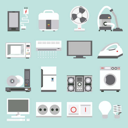 air cleaner: electrodomésticos iconos del diseño, vector Vectores
