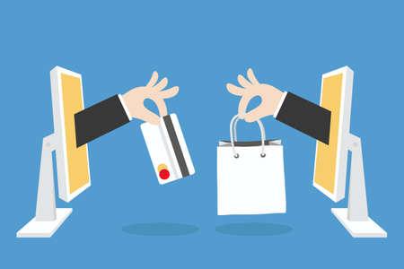 e-commerce concept minimal design, vector Vector