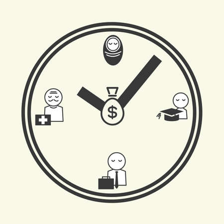 new age: time of life, icon design vector