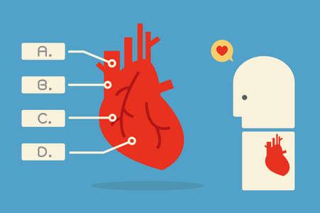 heart infographics minimal design, vector Vector
