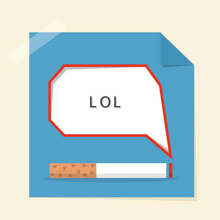 smoke stack: smoking and speech bubble design poster, vector