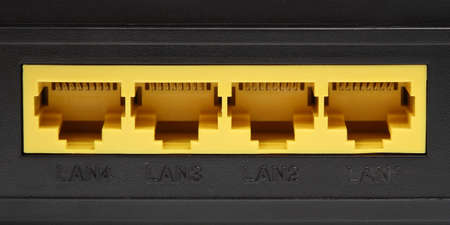 lan cable port photo