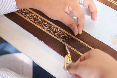 embroider with Thai pattern photo
