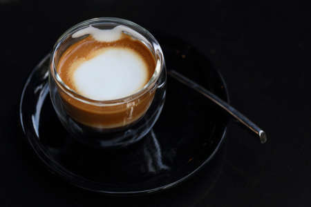 Espresso macchiato close up