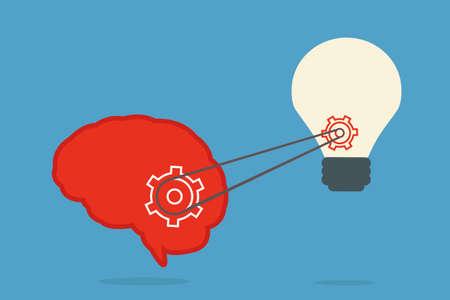 energysaving: brain and bulb idea, vector Illustration