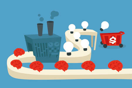 thinking machine: f�brica de ideas Vectores