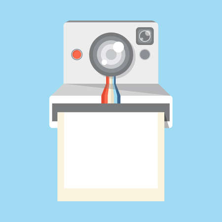 instant camera, vector Illustration