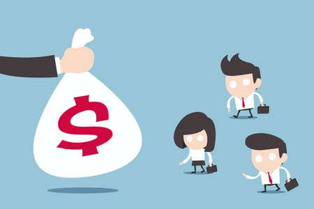 salary man: salary people, vector