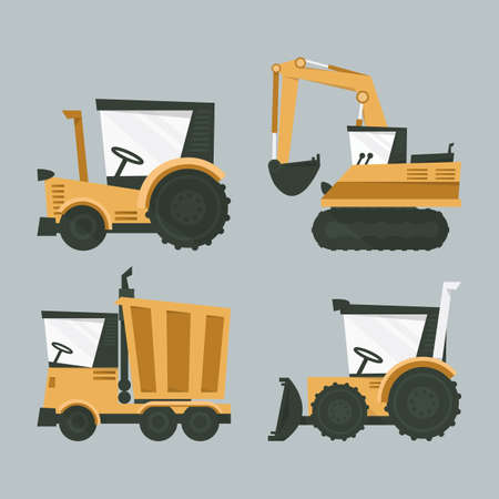 industrial machines, vector Vector