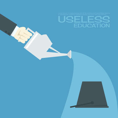 unsuccess: useless education Illustration