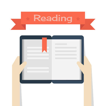 hand holding paper: reading, vector