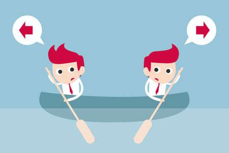 misunderstanding: business conflict, vector
