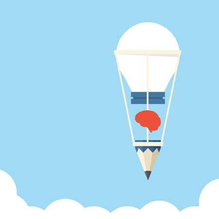 Idea bulb balloon design, vector photo