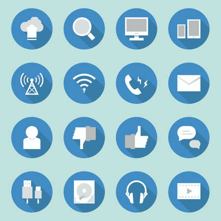 telecoms: telecoms- media icons  design, vector Stock Photo