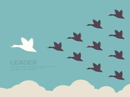 leadership abstract: leader concept Illustration