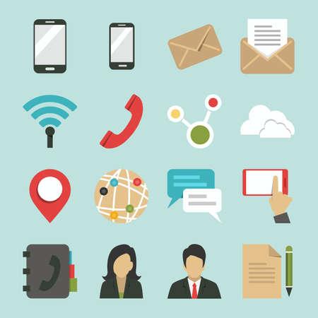 sociaal netwerk en internet iconen ontwerp, vector