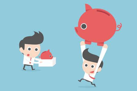 zakenman en winst concept. vector Stock Illustratie
