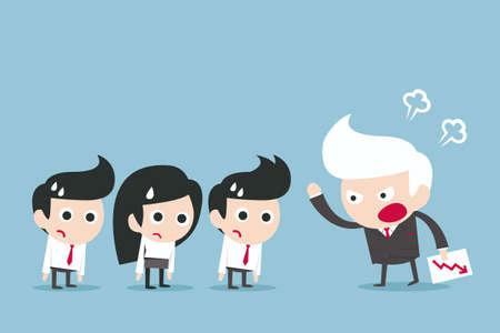 personne en colere: concept de patron en col�re, vecteur