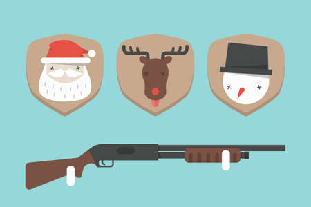 funny christmas background, vector Vector