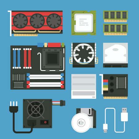 heat sink: computer device icon set