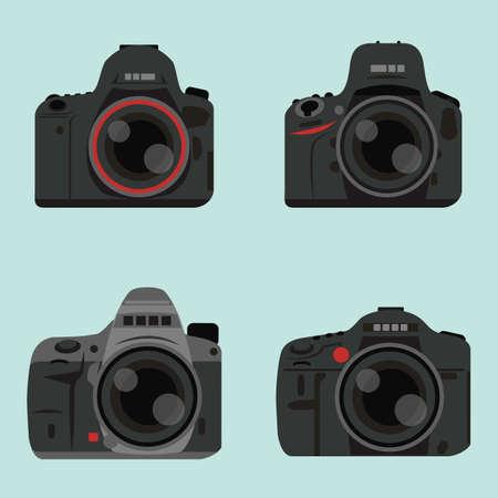 dslr: DSLR digital camera icon design, vector