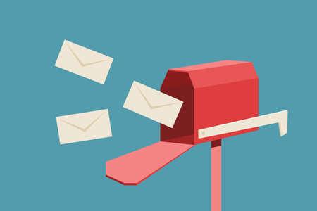 brievenbus Stock Illustratie