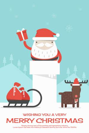 Merry Christmas achtergrond, vector Stock Illustratie