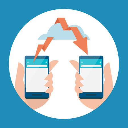 transferring: mobile -  cloud and data transferring