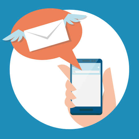 mail and mobile, vector Vector