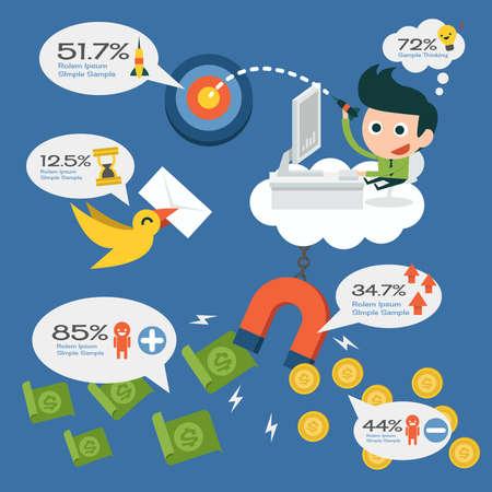 salaryman: salaryman infographics vector design