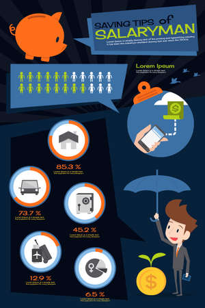 saving tips infographics design, vector Vector