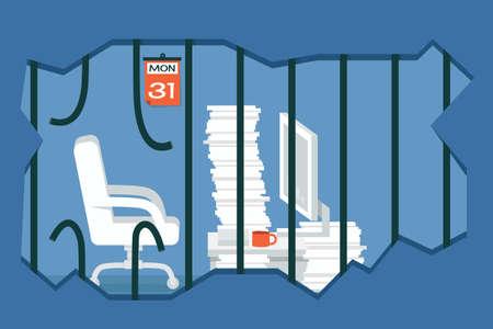 prison break: freedom concept vector design Illustration