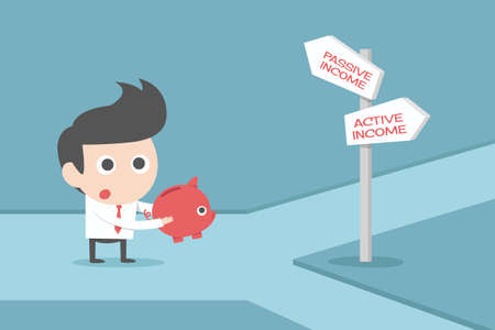 passive: businessman and signs concept cartoon
