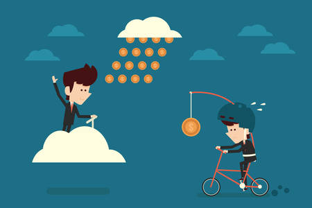 passive earnings: financial freedom concept, vector