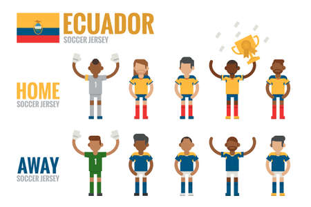 Ecuador soccer team icon flat design Vector