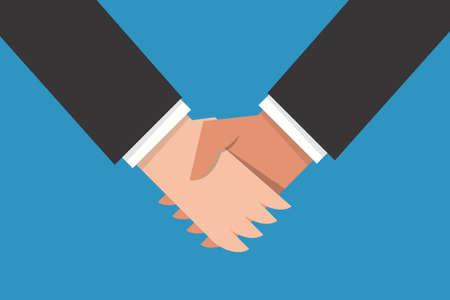 shake hand: Hand shake flat design, vector.