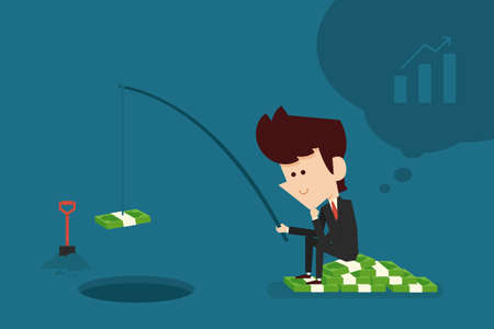 investment concept: investment concept flat cartoon