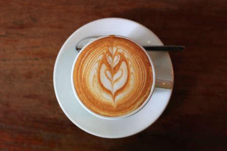 stimulant: Lette art coffee close up Stock Photo