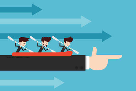 cooperation/ teamwork concept flat designs cartoon Vectores