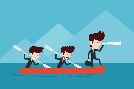 cooperation teamwork concept flat designs cartoon